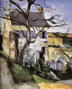 (Picture by Paul Cezanne, Tree house)